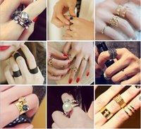 Cheap Cluster Rings Adjustable Punk Style Cluster Ring Best Mexican Women's Stacking Rings