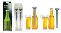 Wholesale 100sets Stainless Steel Wine Liquor Beer Chiller Sticks Cooling Ice with Box Via Fash Shipping
