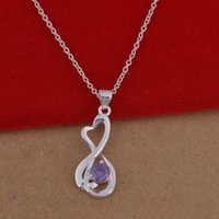 Cheap Trade jewelry wholesale 925 sterling silver necklaces crystal necklace Korean pop a lot of cash