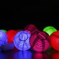 Wholesale 2W AC110V Input US Plug Colorful Paper Lantern with mm Diameter Used for Holidays Meter Set