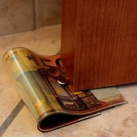 Wholesale Novelty Money US Dollar Cash Guard Door Stops Euro Yen Currency DoorStops Door Protector