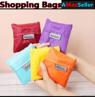 Wholesale 2015 Portable Reusable Dacron ECO Bags Folded Folding Shopping Bags Colorful Pouch Waterproof bags for shopping Cheap
