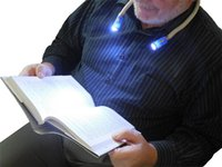 Wholesale Novelty LED Light Multi functional Flexible Flashlight Hands free Hug flectional Neck Book Reading Light Lamp