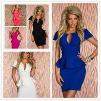 Wholesale V neck waist sexy lotus leaf lace dress skirt clubwear dress sexy lingerie N118 colored