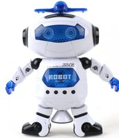 Wholesale Toy robot model degree rotation Infrared dance music space robot toys for children