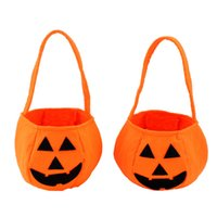 Wholesale Halloween items Handheld pumpkin bag Halloween costumes Non woven pumpkin bag stereo pumpkin bag you can Pack snacks pc