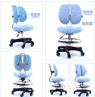 Wholesale Double desk chair back chair lift chair children learning study Student chair backrest computer
