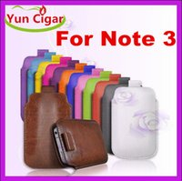 Cheap PULL TAB Pull Up Rope Slim PU Leather Case Pouch Pocket Bag Case Cover for Samsung Galaxy Note 3 N9000