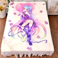 air conditioner fittings - Mmorpg Game Series No Game No Life Anime Fan Sheet Series Flannel Mattress Blanket Air Conditioner Quilt HD Printing
