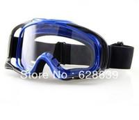 Wholesale Hot Sale Motorcycle ATV Motorcross Off Road Eyewear Ski Goggle Blue Frame Clear Lens