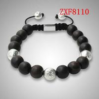ball bracelets for men - Bracelet factory nialaya fashion shamballa alloy ball bracelet natural stone Wood beaded bracelets for men cool black ZXF8110