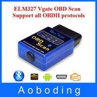 Wholesale New Arrival Latest Version MINI ELM Bluetooth Vgate Scan OBD2 OBDII ELM327 V2 Code Scanner Free Delivery