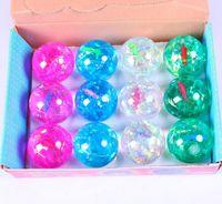 Wholesale 6 CM Children s Favourite Crystal Big Bouncing Balls Colors Flashing LED Bouncing Balls Colorful Fish Light Up Jumping Balls
