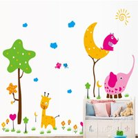 animal fine art - bedroom decoration The new children s room wall stickers of three generations of fine animal park sticker stickers AY9087