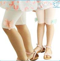 Cheap 2015 Summer Girl Plain Leggings Kids Cotton Flower Leggings Kids Short Pants Leggings Multicolor 5 Pcs lot D9CB2