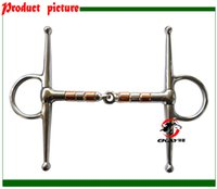 Wholesale SS full cheek bit solid jointed mouth with SS copper rollers never rusted Horse product BT0603