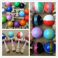 Wholesale Via Fedex EMS CM Professional Jumbo Kendama Toy Japanese Traditional Wood Game Kids Toy PU Paint Beech