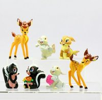 bambi movie - 7pcs set Lovely Bambi PVC Action Figure Model Toys Dolls Children Toys Class Toys Christmas Gifts