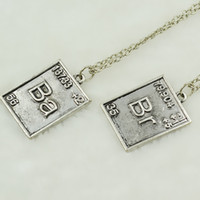 bad promotions - Statement Necklace Chemical symbol Necklace Babr Necklace Breaking Bad Necklace