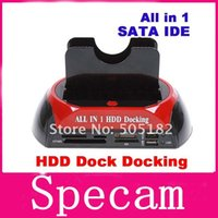 Wholesale HDD Docking Station HDD Docking quot quot IDE SATA HDD dock Docking station with all in one card reader