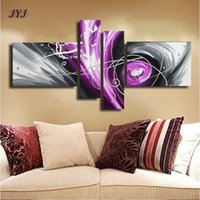 baroque style painting - Thick Textured Baroque Style Handmade Modern Abstract Oil Painting Canvas Wall Art For Living Room Home Decoration JYJHS154