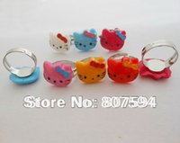 baby boys jewellery - 50Ps small Acrylic resizable Rings baby gifts ring lovely hello kitty rings fashion jewelry jewellery JR5
