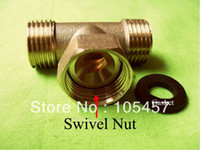 Wholesale quot Male X quot Female Tee Swivel X quot Male DN15 BSP Swivel Nut Adapter order lt no track