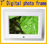 alarms picture frames - 7 quot Inch HD LED Digital Photo Frame Acrylic Multimedia Digital Picture Frames Multifunction MP3 MP4 Movie x480 Support SD Card USB MMC