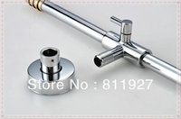 Wholesale good fashion style liftable sliding rainfall shower faucet set in bathroom with low price for promotion lamp
