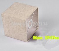 Wholesale sackcloth linen gunny cloth Lamp cover fabric lamp shade for wall lamp chandeliers light Pendant lgith E27 rectangle lampshade
