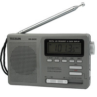 backlight clock radio - Portable TECSUN DR C FM MW SW Band Radio Digital Clock Alarm Night Backlight Y4139H