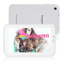 Wholesale Original inch Sanei G703 Phablet Android Allwinner A13 M GB Tablet PC Dual Cameras WI FI cheap tablet pc