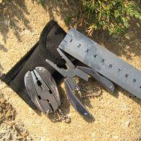 Wholesale 1 pc Portable Multi Function Folding Pocket Tools Plier Knife Keychain Screwdriver