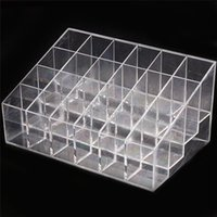 acrylic cosmetic display - 2015 Hot Sale Clear Acrylic Lipstick Holder Display Stand Cosmetic Organizer Makeup Case