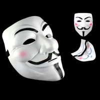 Wholesale Party Masks V for Vendetta Masks Anonymous Guy Fawkes Fancy Dress Adult Costume Accessory Party Cosplay Masks