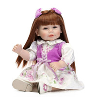 american express fashion - 52cm American Girl Doll Vinyl Soft Lifelike express Kids Toy Silicone Baby Dolls Collectible Present