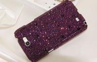 achat en gros de pourpre cas de l'iphone 4s-Purple rhinestone Samsung Galaxy S6 Housse de téléphone portable brillant pour iPhone 4s 5 5s 6 6 plus 6s plus livraison gratuite