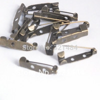 antique bar supplies - bulk piece mm hole Antique bronze brass safety pin brooch bar pin backs findings jewelry making supplies