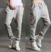 Cheap Sport mens joggers Grey color cotton material outdoor running jogging pants for men pantalones hombre P007
