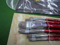 acrylic workshop - High quality gouache pen picasso long rod mahogany workshop oil painting pen acrylic paint brush