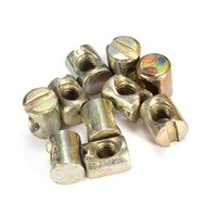 best furniture sale - Best Promotion Barrel Bolts M6 x10x12mm Cross Dowel Slotted Furniture Nuts for Beds Cribs Chairs Hot Sale order lt no track