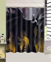 batman shower curtains - new black cool Batman bathroom curtain home decors cmx165cm high quality polyester fabric Shower Curtains
