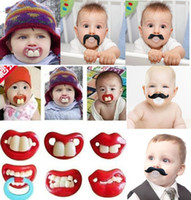 baby dummies - 1 piece Infant silicone Pacifier Hot Funny Dummy Dummies Pacifiers pacifiers baby teeth and funny personality creative