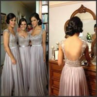 belted sweetheart dress - 2015 Cheap Bridesmaid Dresses with Belt Backless Maid of Honor Dresses on Sale Evening Gowns Ruffled Chiffon A Line Silver Bridesmaid Dress