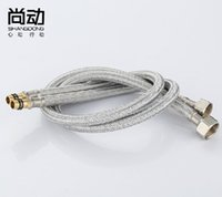 Wholesale cm Water heater inlet pipe length stainless steel faucet plumbing hose Double screw pipe