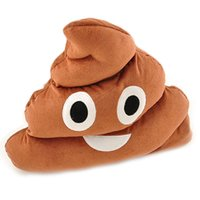 Wholesale S5Q Cute Toy Funny Emoji Cushion Poo Shape Pillow Stuffed Plush Doll Pillow Gift AAAELJ