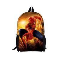 Wholesale hot sale cartoon superhero school backpacks for teenager boys Christmas gifts d spider man children backpacks for college