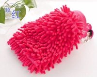 Wholesale 300pcs Car wash glove towel coral thick double edged waterproof gloves Microfiber Snow Neil fiber Cleaning high density