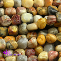 agate - Discount Natural Genuine Yellow Crazy Lace Agate Nugget Loose Beads Free Form Beads mm Fit Jewelry quot