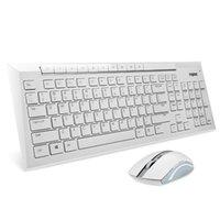 al por mayor teclado inalámbrico rapoo-Rapoo mayor-lujo 8200p multimedia ratón teclado inalámbrico mudo impermeable